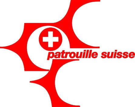 Photo de Patrouille Suisse Logo Autoaufkleber small