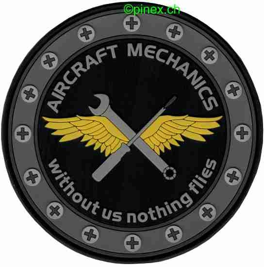 Bild von Aircraft Mechanics PVC Rubber Patch
