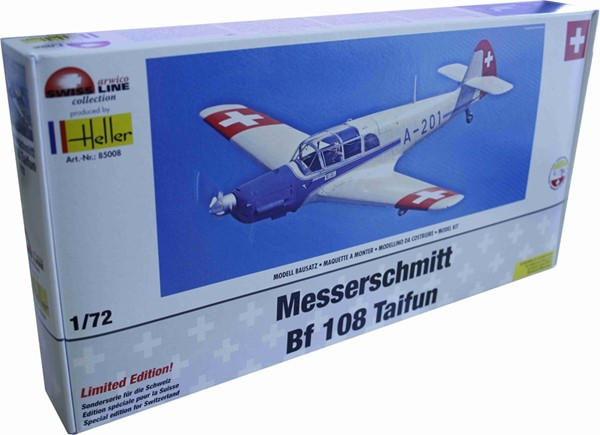 Photo de Heller Messerschmitt BF-108 Taifun mit Schweizer Decals