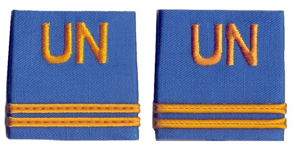 Photo de UN Insigne de grade Premier-Lieutenant Nations Unies