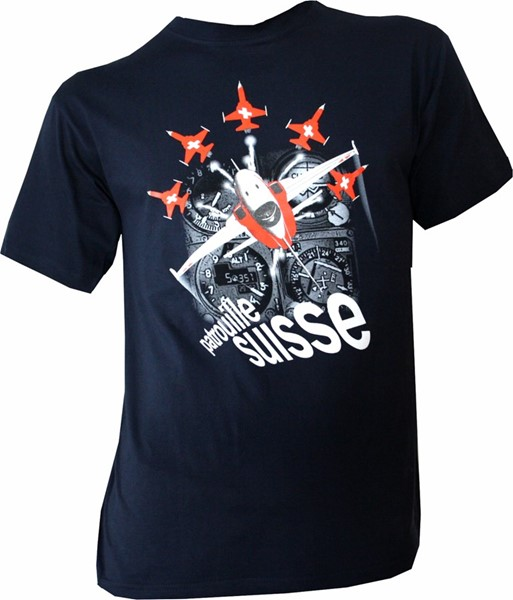 Photo de Patrouille Suisse T-Shirt Cockpit Navyblau