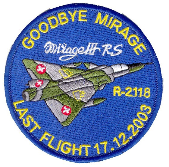 Picture of Mirage 3 RS Reconnaissance Patch Swiss Air Force