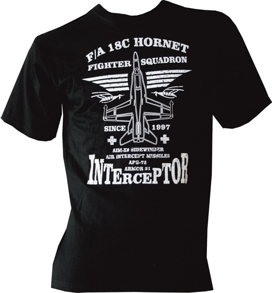 Photo de F/A-18 Hornet Interceptor Kinder T-Shirt schwarz