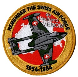 Bild von de Havilland Venom Patch Remember the Swiss Air Force