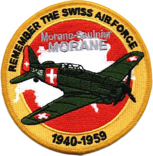 Bild von Morane Saulnier Morane Patch Remember the Swiss Air Force