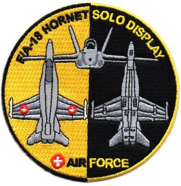 Photo de F/A-18 Hornet Forces aériennes Suisses solo Display Badge 2018