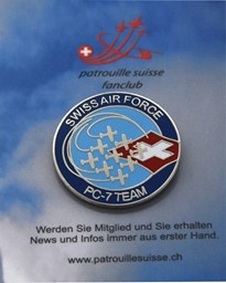 Bild von Swiss Air Force PC-7 Team Logo Pin