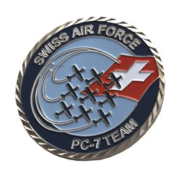 Bild von Coins Swiss Air Force PC-7 TEAM
