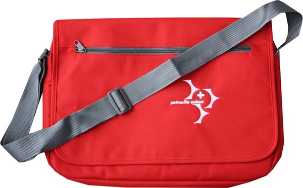 Picture of Patrouille Suisse Laptoptasche bestickt rot