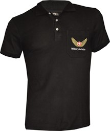 Bild von Polo Shirt, Military Aviation schwarz