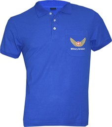 Bild von Polo Shirt, Military Aviation blau