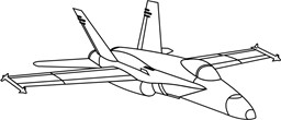 Bild von F/A-18 Hornet Swiss Air Force Autoaufkleber 420mm medium