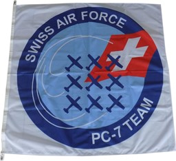 Bild von Swiss Air Force PC-7 Team Flagge
