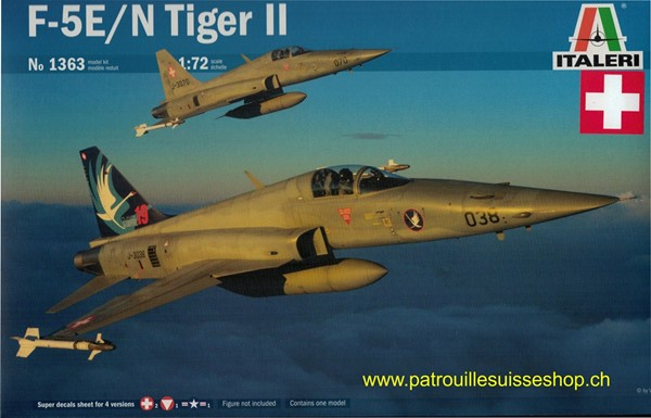 Photo de Italeri Tiger F5E Forces aériennes suisses maquette en plastique 1:72