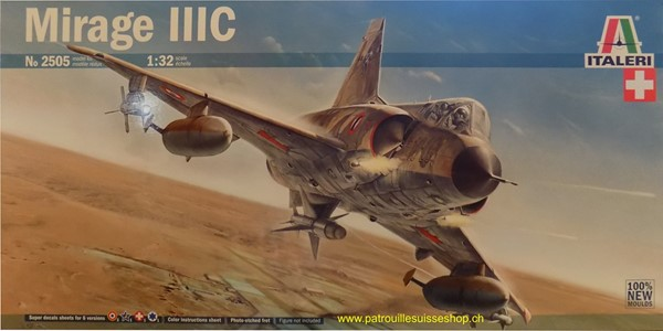 Photo de Mirage III GROSS 1:32 Plastikbausatz mit Schweizer Decals