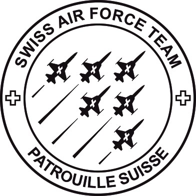 Photo de Patrouille Suisse Logo Offiziell Autoaufkleber 270mm medium